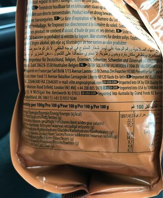 Mini Pop Kek - Nutrition facts