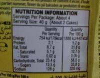Eti Pop Kek With Banana 144G - Nutrition facts - fr