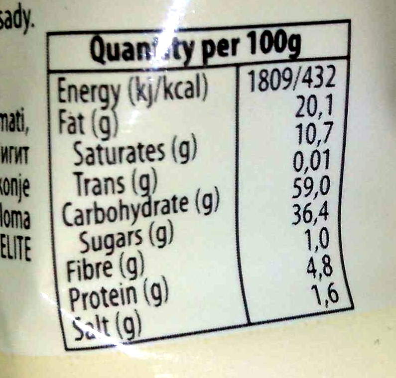 pop kek with chocolate - Nutrition facts - en