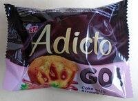 Adicto Go Prăjitură cu cremă de capșuni - Produkt - pl