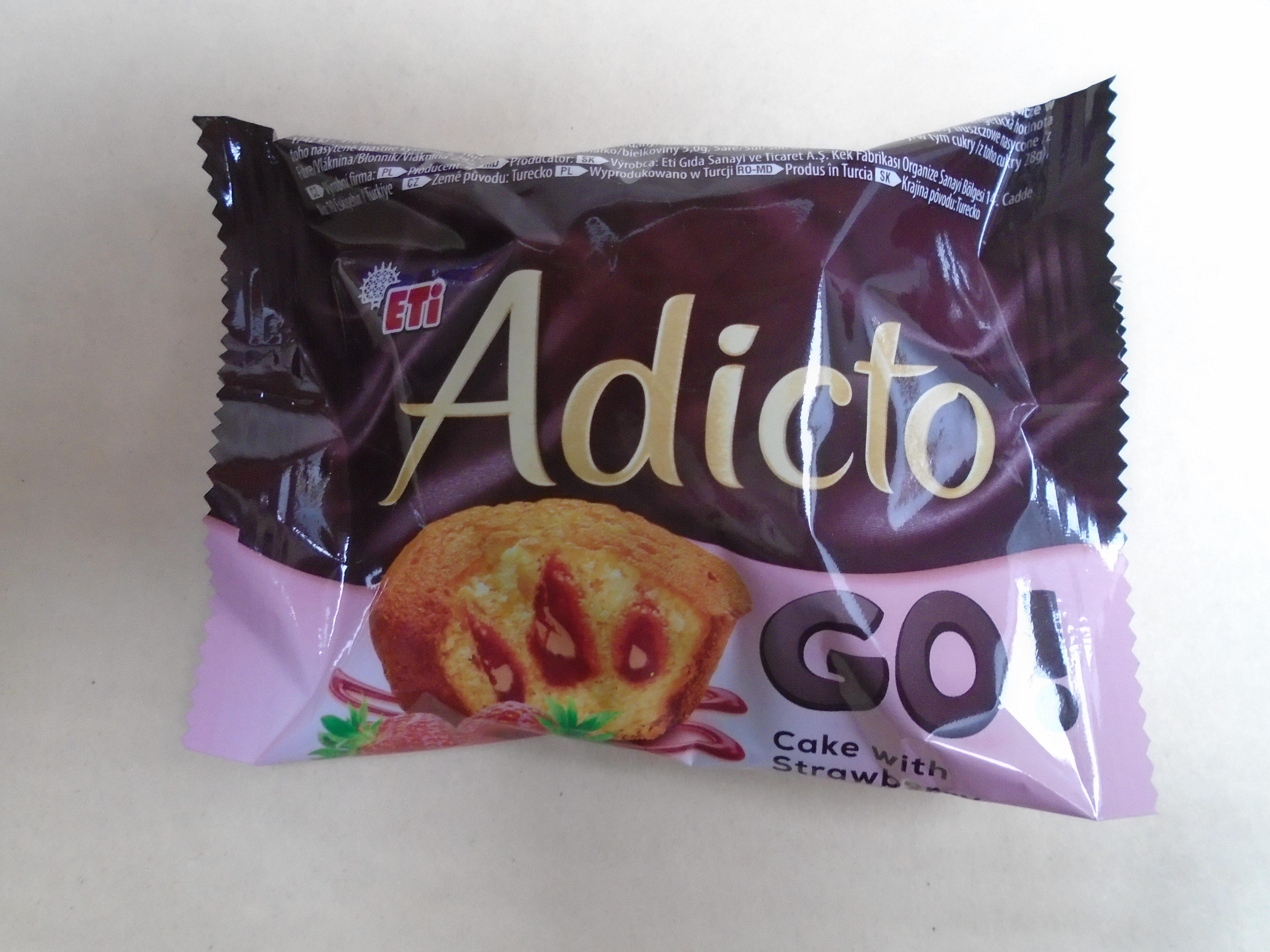 Adicto Go Prăjitură cu cremă de capșuni - Produit - ro