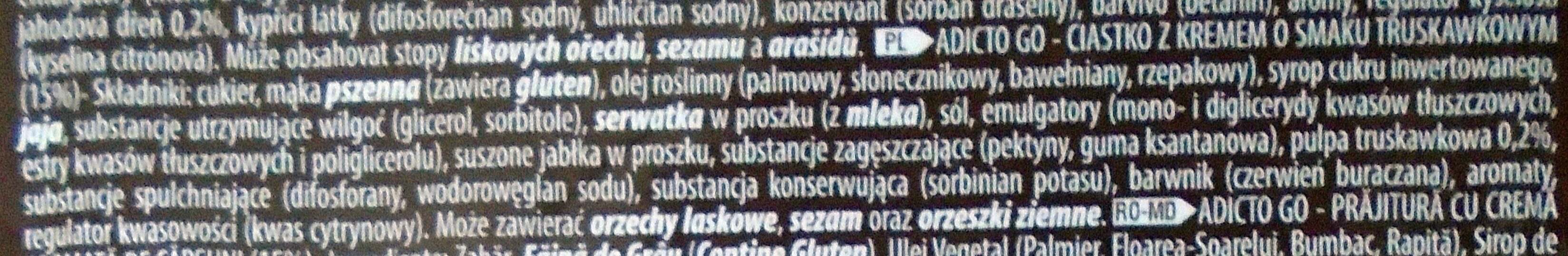 Adicto Go Prăjitură cu cremă de capșuni - Składniki - pl