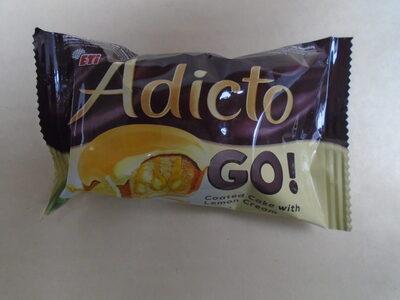 Adicto Go Prăjitură cu cremă de lămâie și glazură - Produit - ro