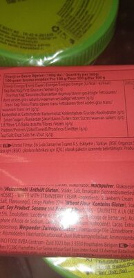Eti Hosbes Wafer With Strawberry Cream 142G - Informations nutritionnelles - fr