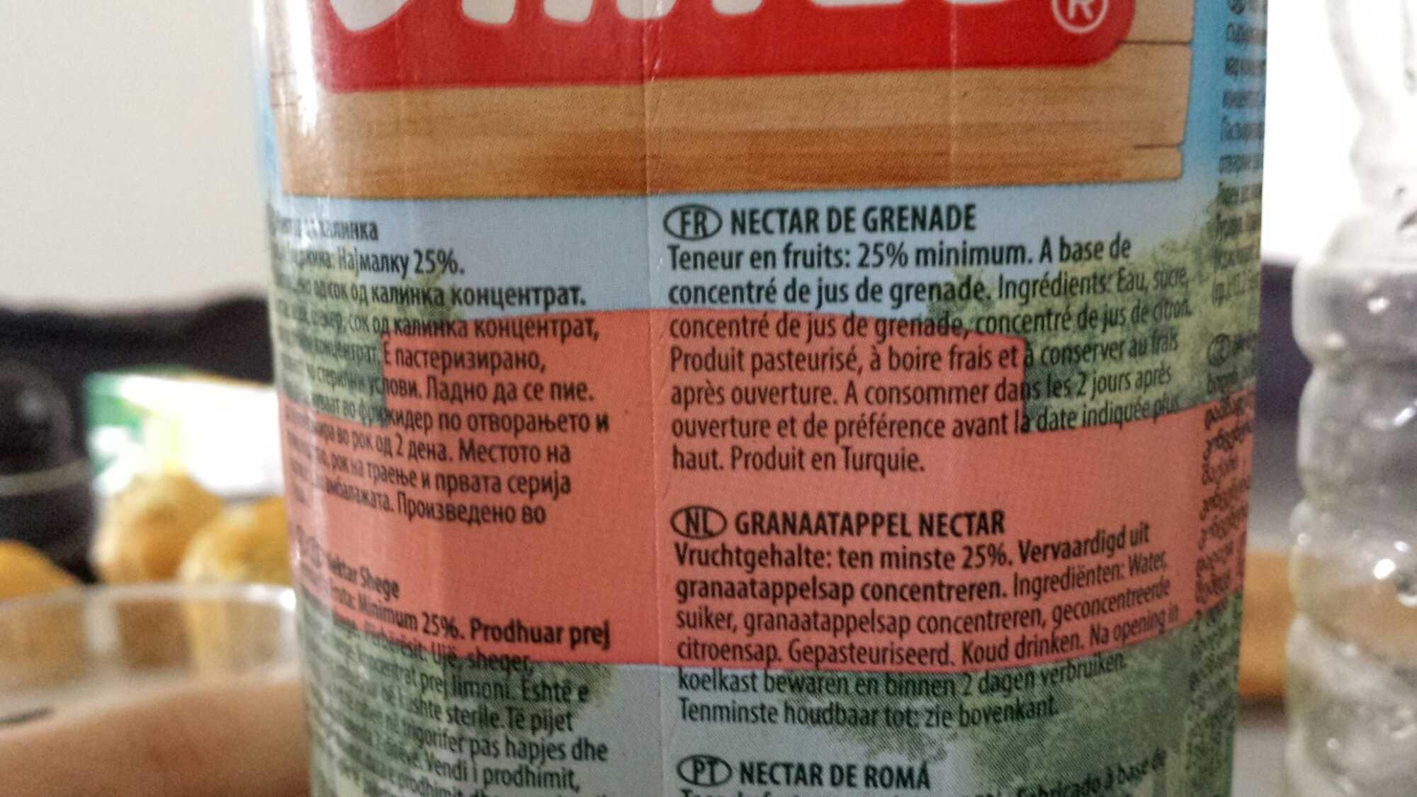Active Pomegranate Nectar - Product - fr