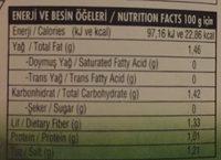 - Beslenme gerçekleri