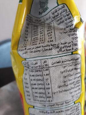 Céréales - Informations nutritionnelles