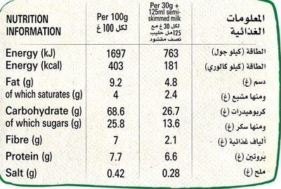 Nesquik® Choco coeurs - Nutrition facts