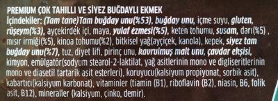 premium - Ingredients