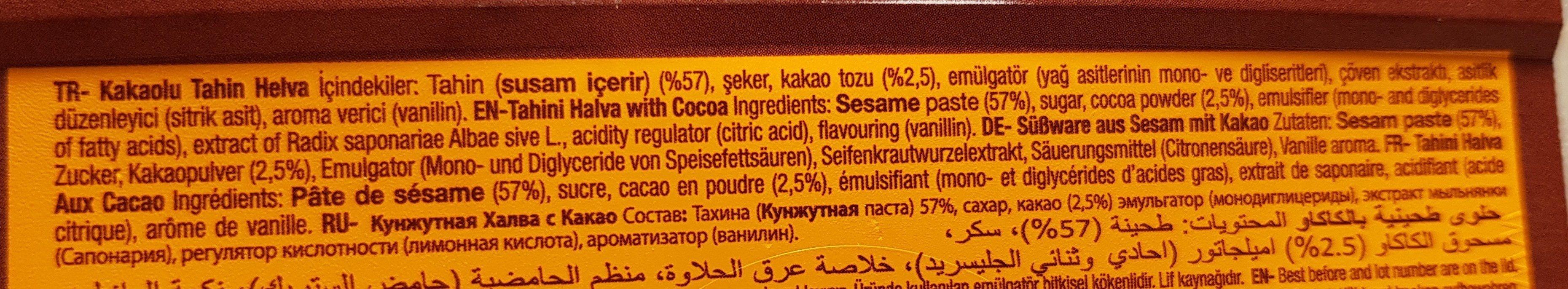 Koska Kakaolu Tahin Helvasi - Ingredienti - fr