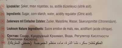 Koska Turkish Delights Plain 500G (Pack Of 2) - Ingrediënten - fr