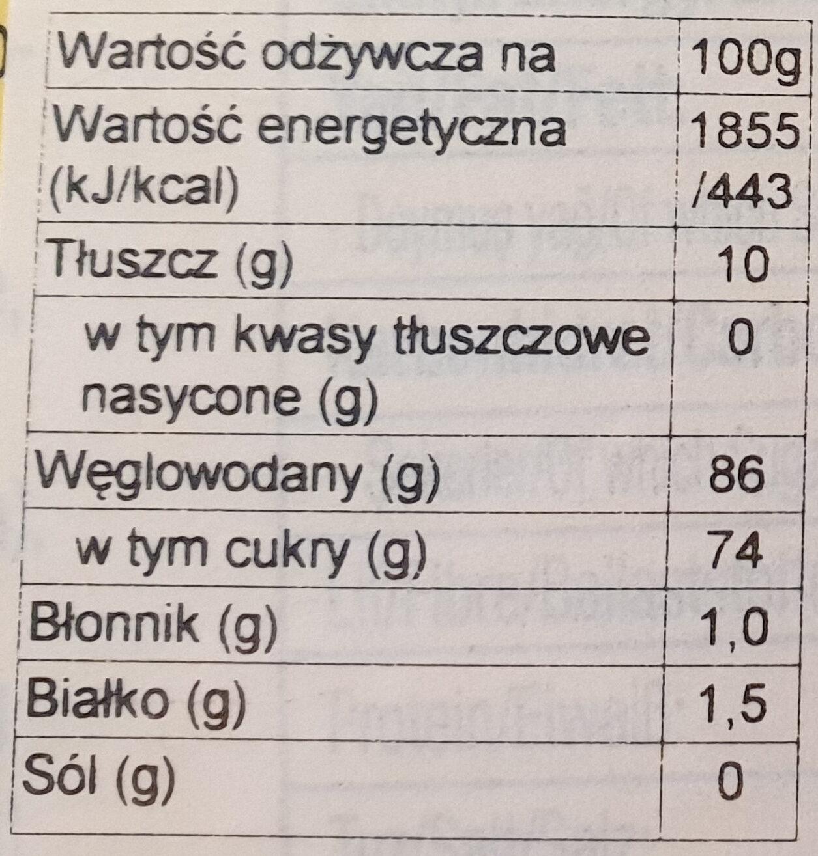 Traditional Floss Halva - Wartości odżywcze - en