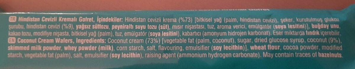 9 kat tat - Ingredients
