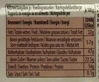 Halva Au Cacao - Sera - Nährwertangaben - fr