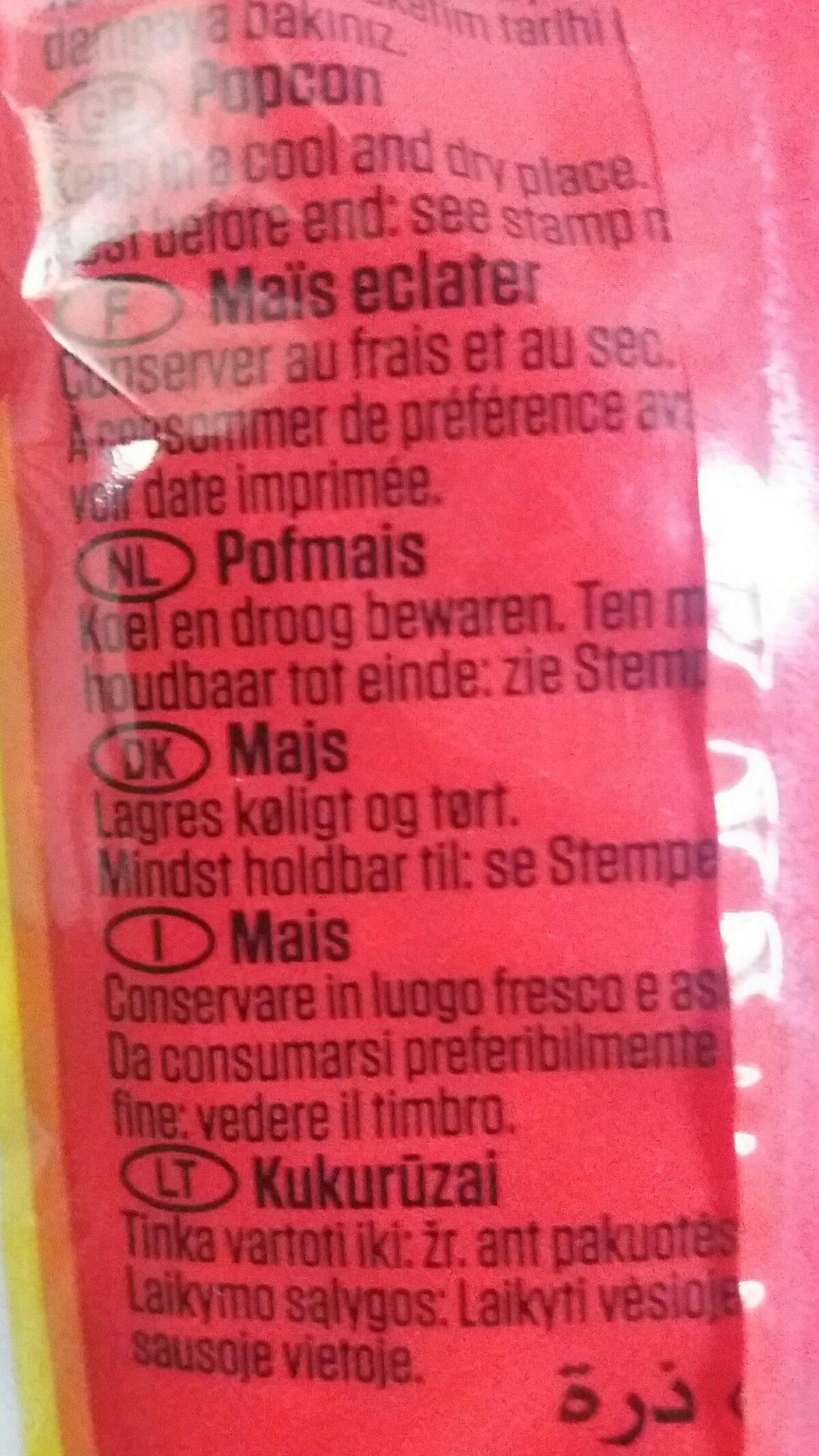 Popcorn Mais - Ingrédients