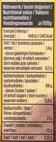 Bulgur - Nutrition facts - de