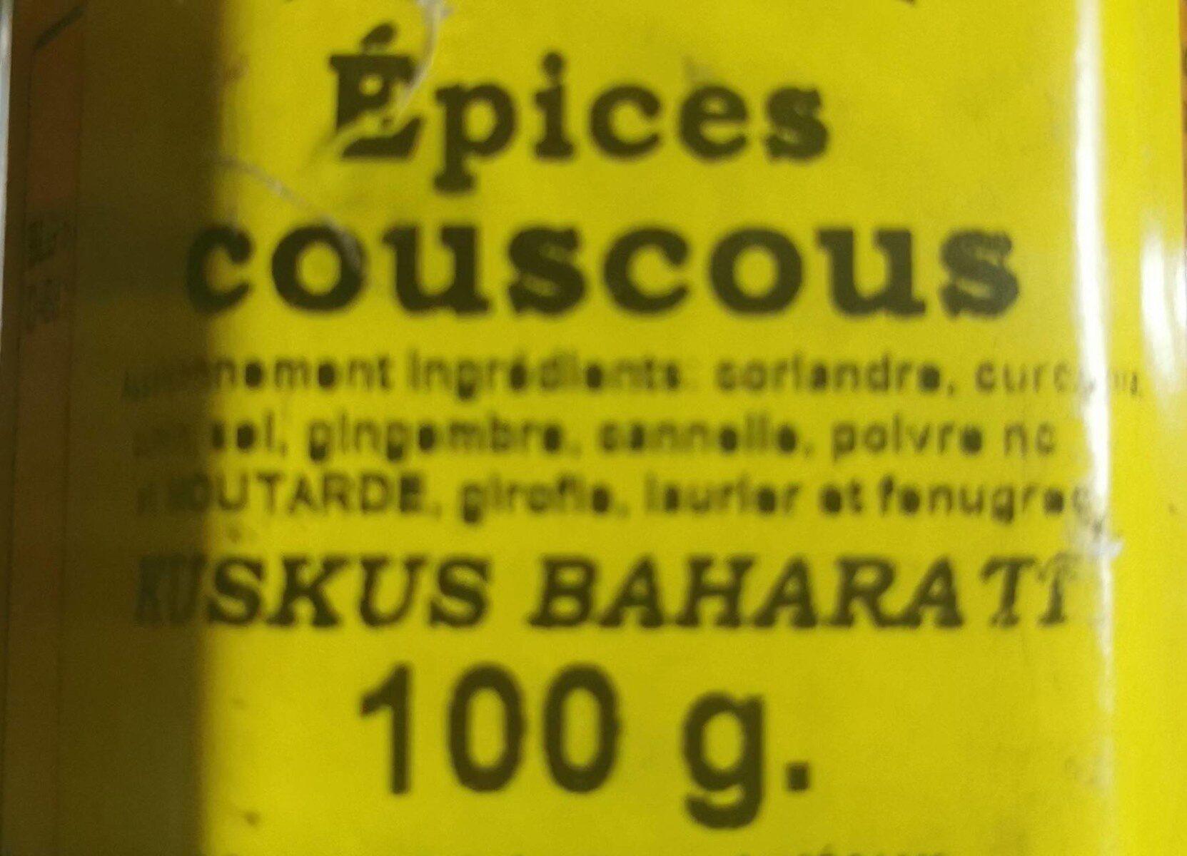 """Épices Couscous """"Kuskus Bharati"""" - Voedingswaarden - fr"""