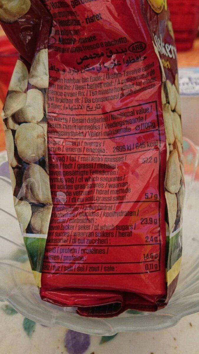 Noisettes suntat - Informations nutritionnelles