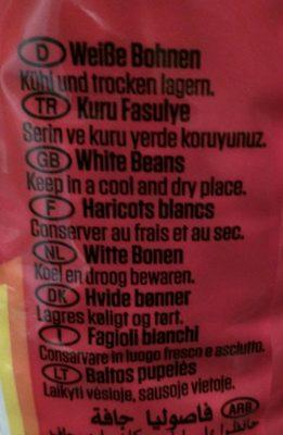Haricots blancs - Ingrédients