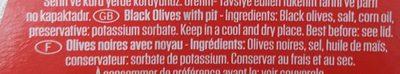 Baktat Siyah zeytin/Black olives - Ingrediënten - fr