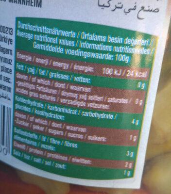 Baktat Mediterranean Products Okra - Voedingswaarden - fr