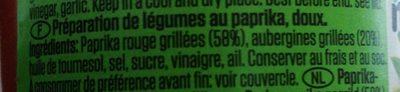 Ajvar - Ingrediënten - fr