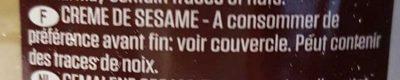 Tahin - Ingrédients - fr