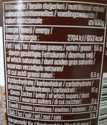 Pâte de sésame Oder Tahin - Nutrition facts - fr