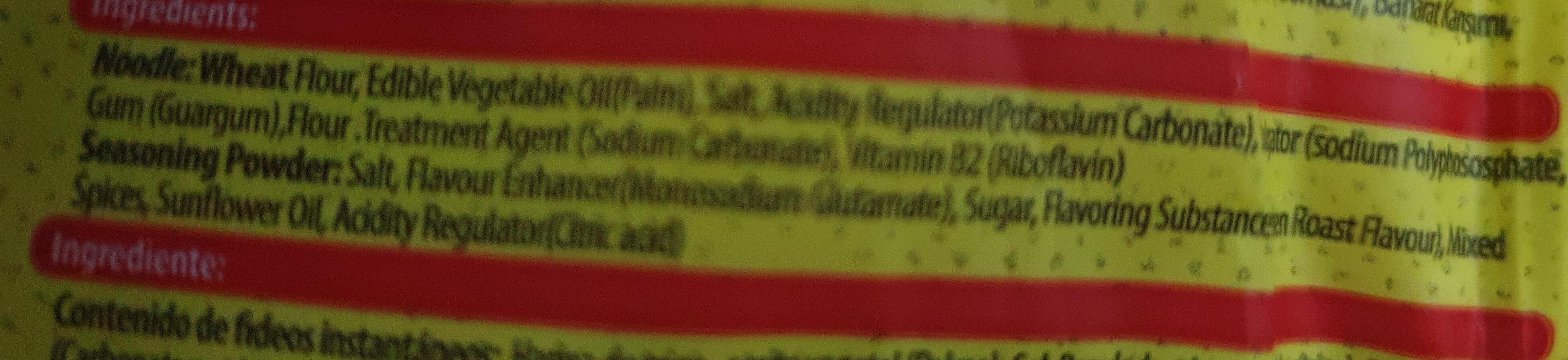 instant noodle - Ingrédients - en