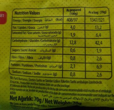 instant noodle - Informations nutritionnelles - en