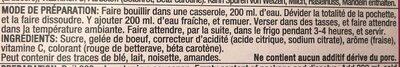 Gelée-arômatisé à la fraise - Ingrediënten - fr