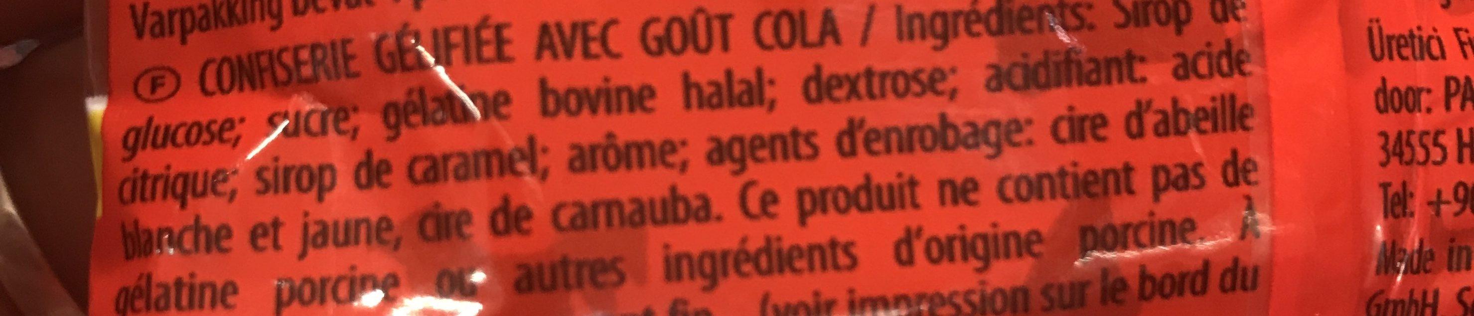 Haribo Halal Happy Cola Original 100G - Ingrédients