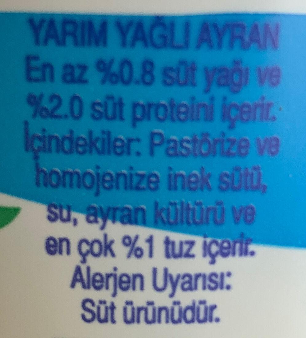 - Ingrediënten - tr