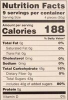 Turkish Delight - Nutrition facts - fr