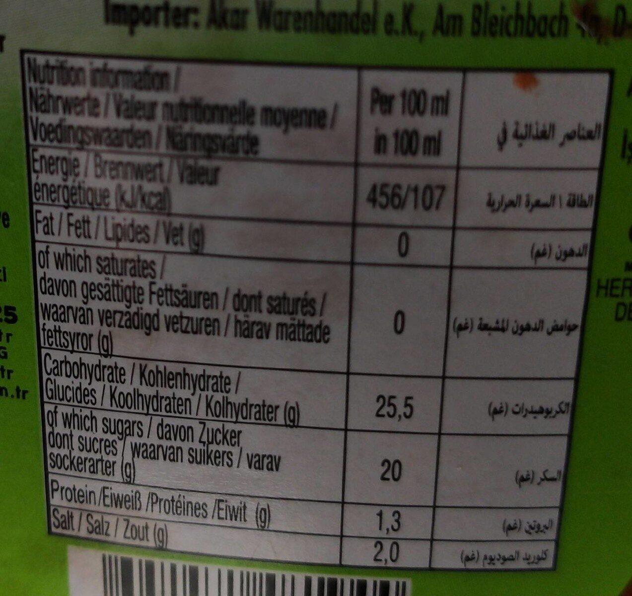 ülker Bizim Mutfak Ketchup - Informations nutritionnelles - fr