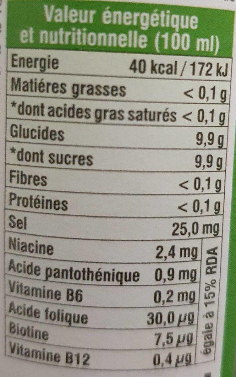 Boisson - Voedingswaarden - fr