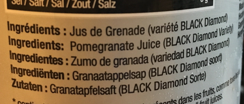 Grenade black diamond - Ingrédients - fr