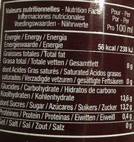 Elite Naturel Jus De Grenade Bio - Informations nutritionnelles - fr