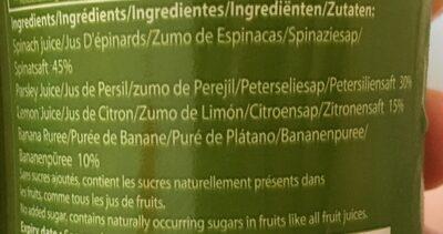 Epicerie / Boissons Et Vins / Jus De Légumes - Ingredients - fr