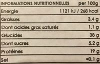 Pois chiche grillé - Nutrition facts