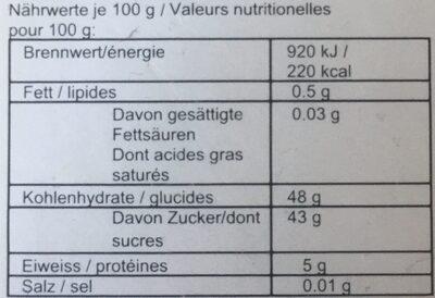 Abricots séchés - Nutrition facts - fr