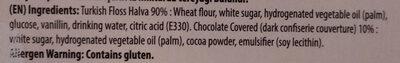 Cikolata Kaplamah Pismanige - Ingredients - en