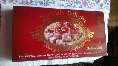 Traditional Double Roasted Blackberry Flavoured Turkish Delight With Extra Rich Pistachio - Product