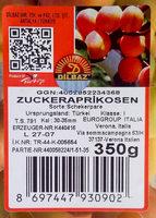 Zuckeraprikosen - Produkt