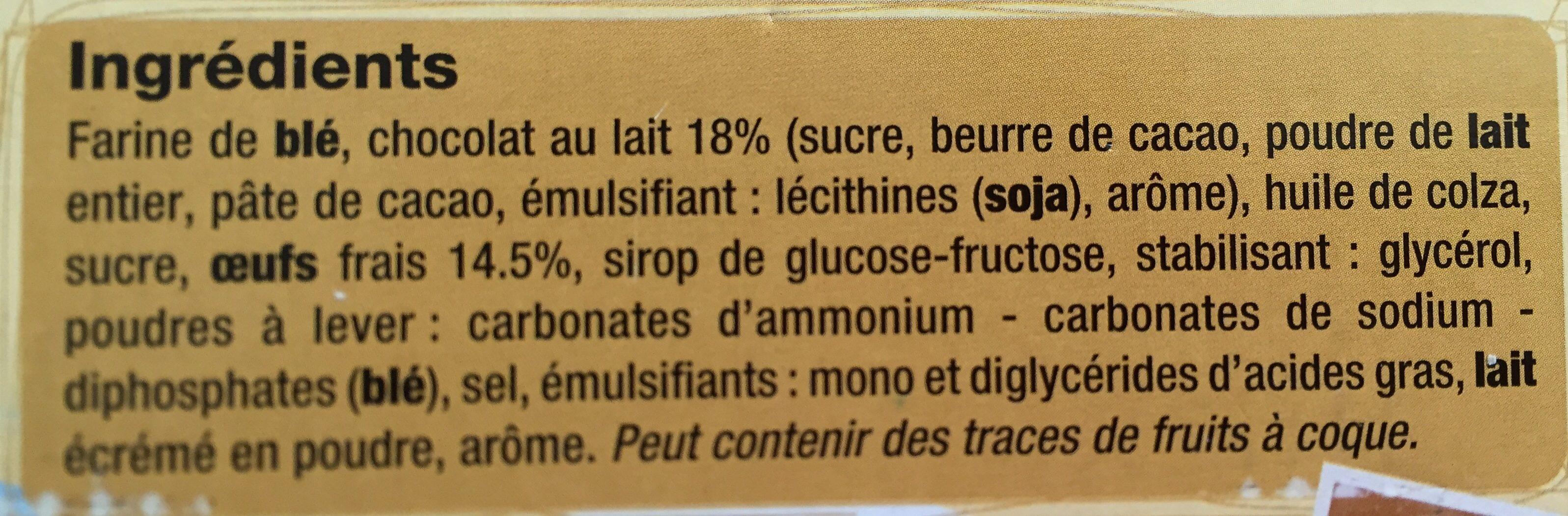 Madeleines chocolait - Ingrédients - fr