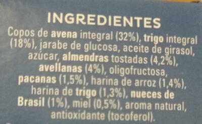Cruesli frutos secos - Ingredients - es