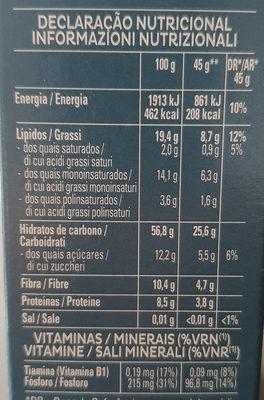 Cruesli 4 Frutos Secos - Información nutricional - es