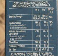 Cruesli - Informação nutricional - es