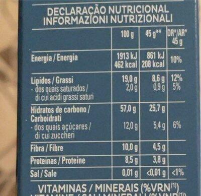 Cruesli - Informação nutricional
