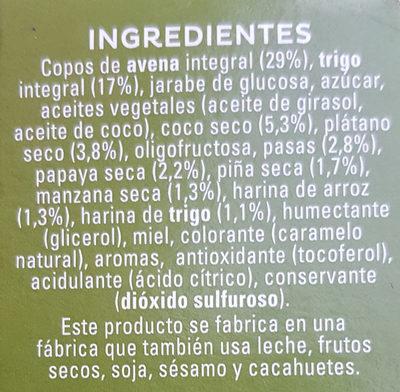 Cruesli Fruta - Ingredientes